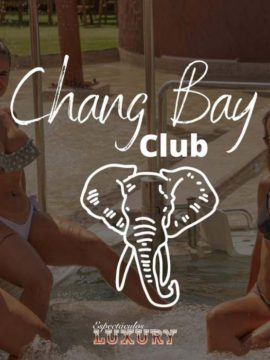 Entrada a Chang Bay club Puerto - piscina